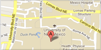 small image of unm main campus location google map image Copyright Google 2012