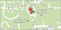 small image of unm los alamos campus location google map image Copyright Google 2012